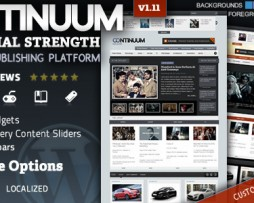 Continuum - Magazine Wordpress Theme http://Glukom.com