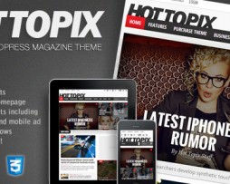 Hot Topix - Modern Wordpress Magazine Theme http://Glukom.com