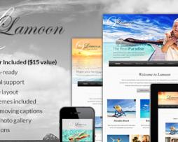 Lamoon - Responsive WordPress Theme http://Glukom.com