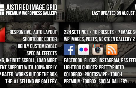 Justified Image Grid – Premium WordPress Gallery