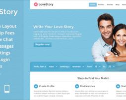 LoveStory - Dating WordPress Theme http://Glukom.com