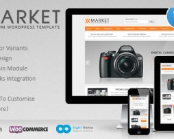 XMarket - Responsive WordPress E-Commerce Theme http://Glukom.com