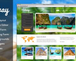 Midway - Responsive Travel WP Theme http://Glukom.com