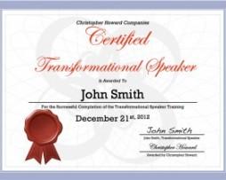 Chris Howard - Transformational Speaker Certification http://Glukom.com