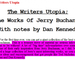 Dan Kennedy – The Writer's Utopia