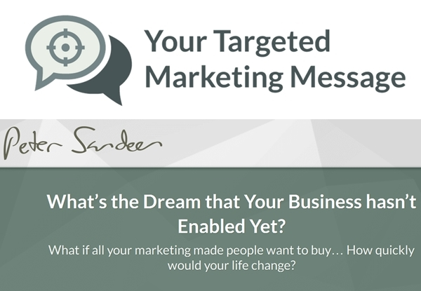 Businessmarketing and internet marketing peter sandeen targeted marketing message malvernweather Image collections