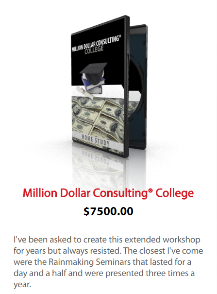 Alan Weiss - Million Dollar Consulting College